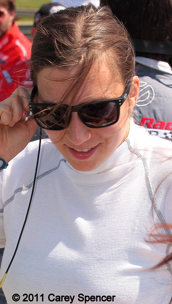Simona getting ready to race at Barber