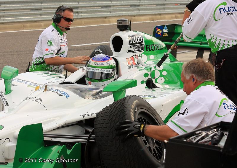 Simona de Silvestro HVM Team Works on No. 78 in the Pit at Barber Motorsports Park