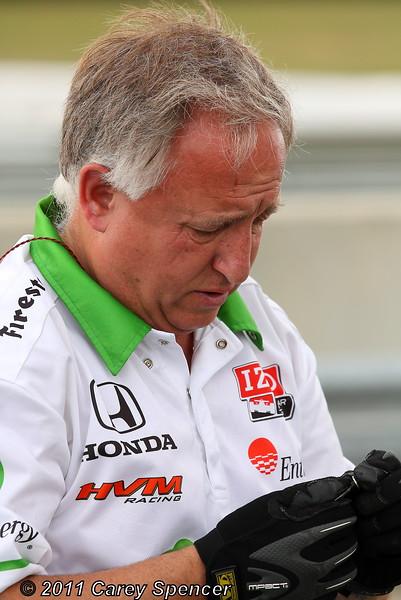 HVM Racing Simona de Silvestro Team Member During Friday IndyCar Practice Barber Motorsports Park
