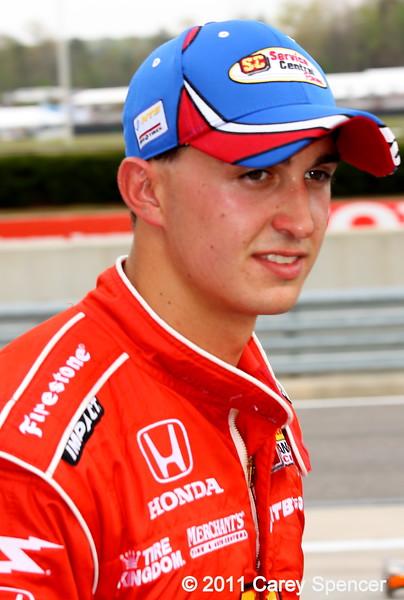 Graham Rahal after practice Barber Motorsports Park