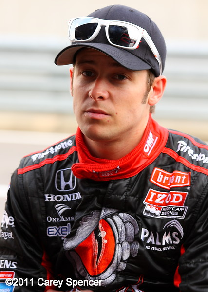 Marco Andretti after practice Barber Motorsports Park