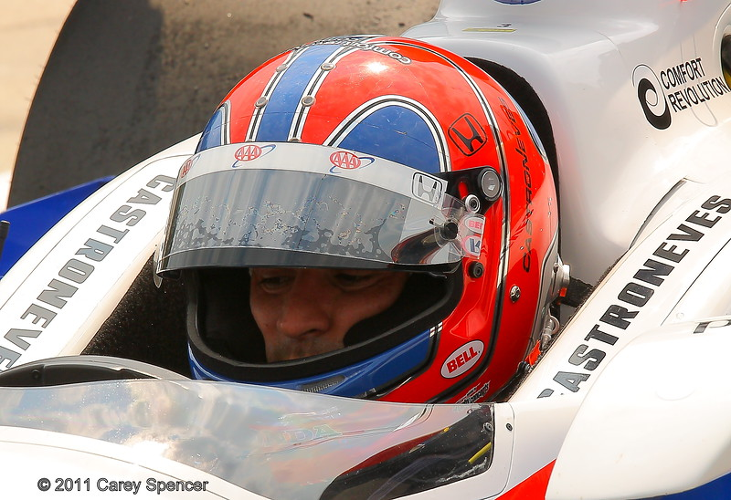Helio Castroneves practice for Honda Indy Grand Prix of Alabama
