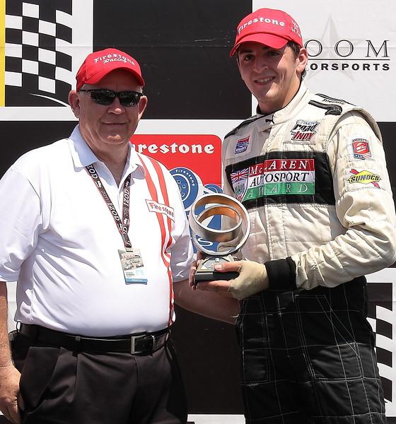2nd Place Stefan Wilson Firestone Indy Lights Barber