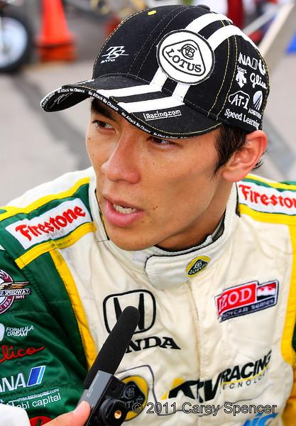 Takuma Sato post practice interview Barber