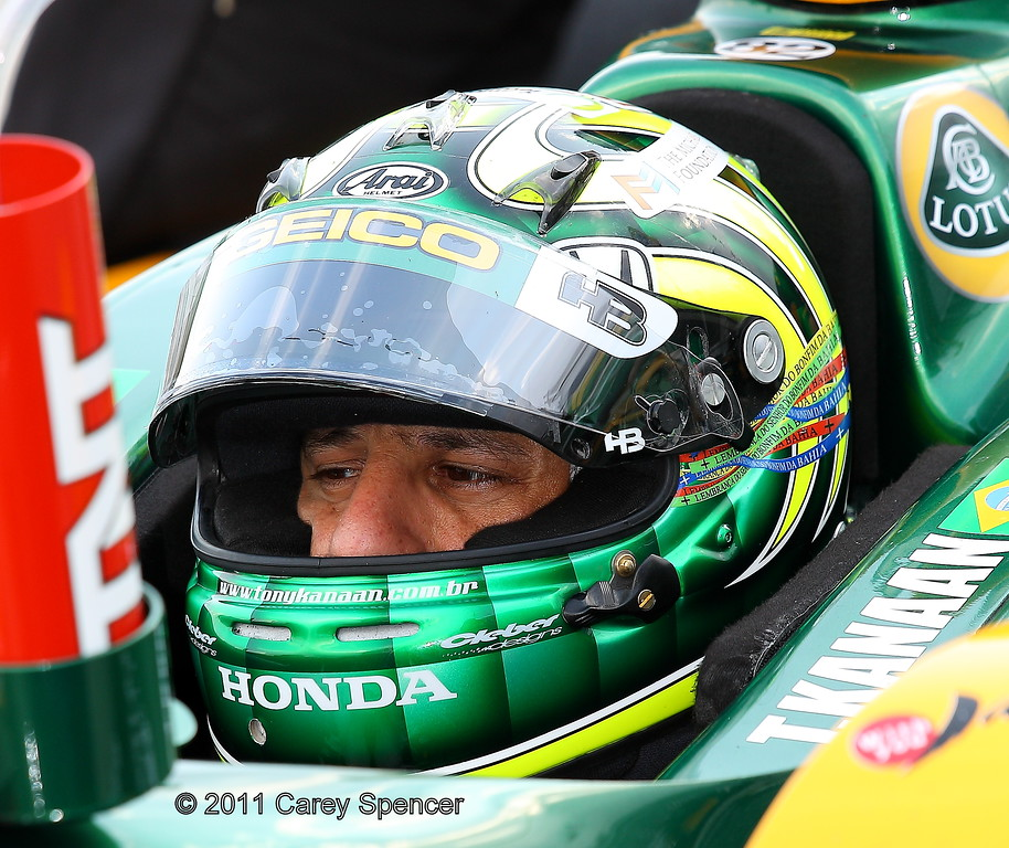 Tony Kanaan practice at Barber