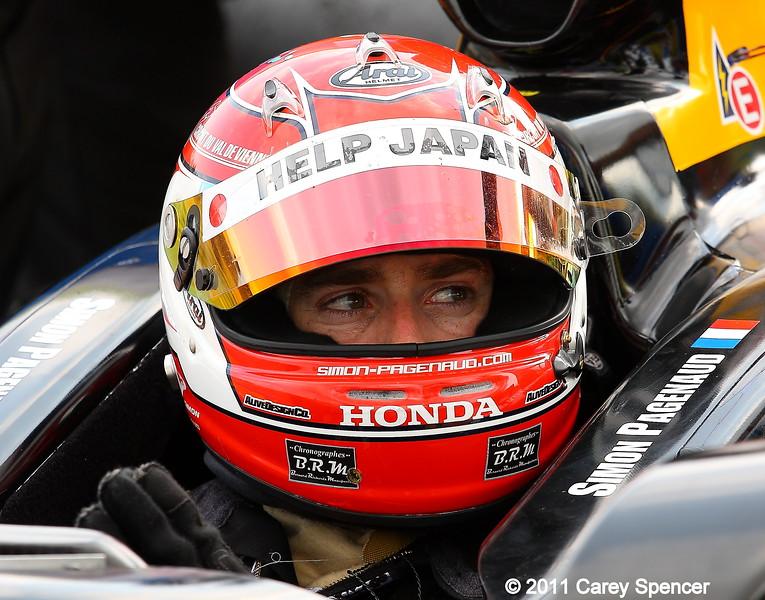 Izod IndyCar driver Simon Pagenaud Barber Motorsports Park