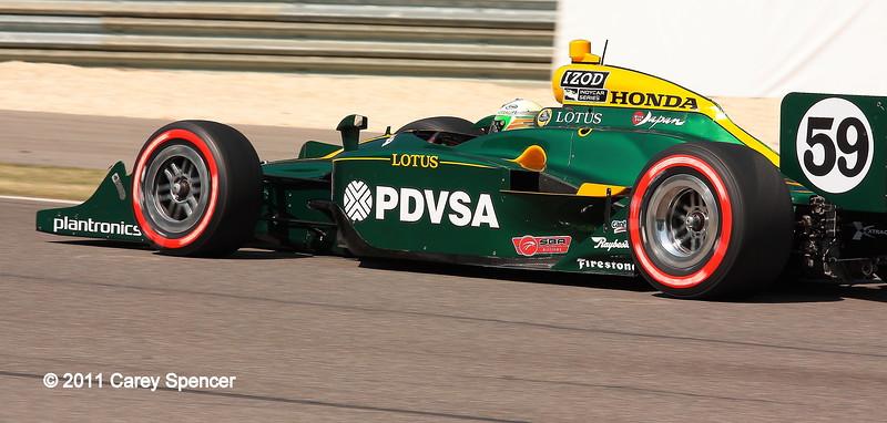 No. 59 EJ Viso KV Racing Lotus IndyCar Barber