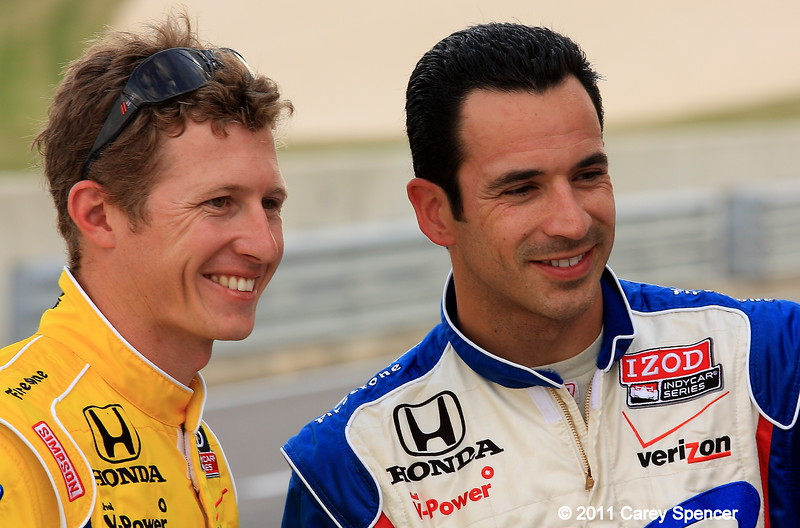 Ryan Briscoe and Helio Castroneves Barber Motorsports Park