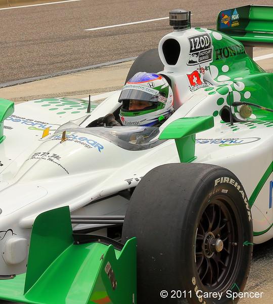 Izod IndyCar HVM Racing No. 78 Simona de Silvestro Practice Barber Motorsports Park