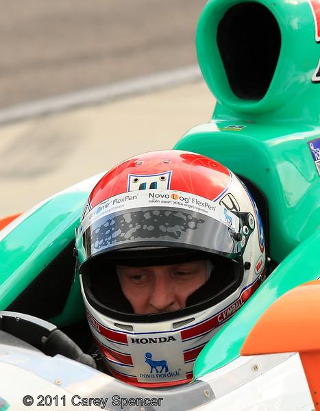 Izod Indycar driver Charlie Kimball practice at Barber Motorsports Park