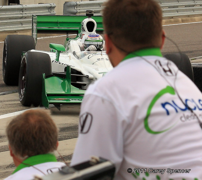 Simona de Silvestro Entering Pit with her No. 78 HVM Indy Car at Barber Motorsports Park