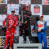 IndyCar Podium Honda Indy Grand Prix of Alabama Power Dixon and Castroneves