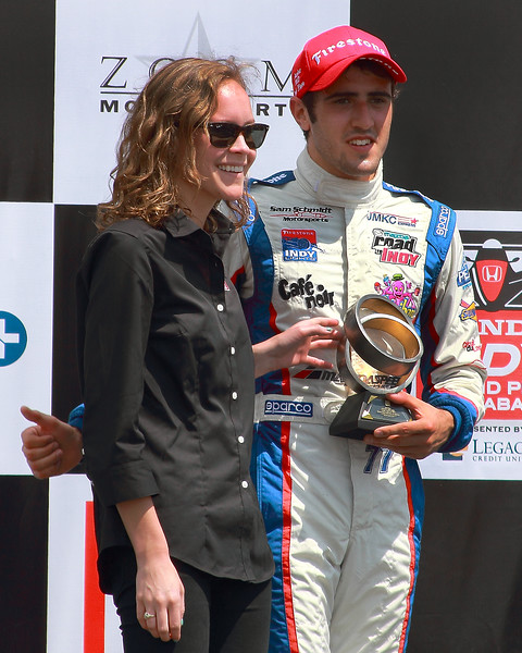 Firestone Indy Lights Driver Tristan Vautier placed second at Barber