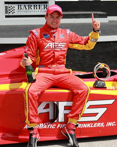 Indy Lights Driver Sebastain Saavedra Number 1 Finish 2012 Barber