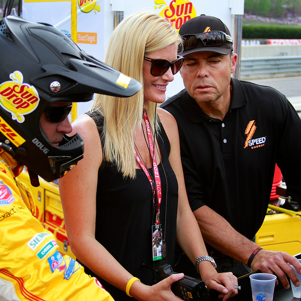 Ryan Hunter-Reay's Family Crew and Friends watch his performance at Barber