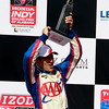 IndyCar Driver Helio Castroneves celebrates a 3rd place finish Honda Indy Grand Prix of Alabama