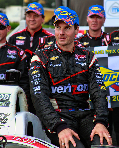 Will Power Sunoco Hat Victory Lane Indy Grand Prix of Alabama