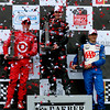 IndyCar Podium Indy Grand Prix of Alabama Will Power Scott Dixon and Helio Castroneves