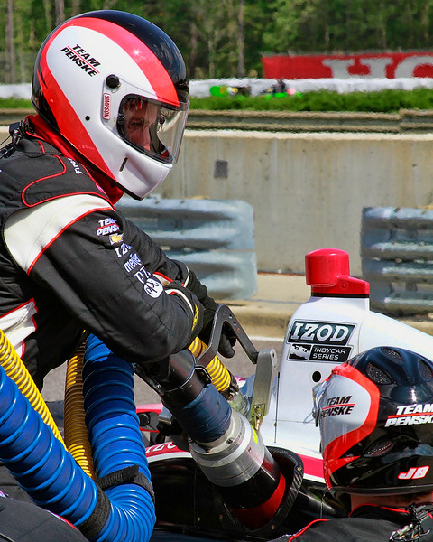 Ryan Briscoe No. 2 Penske Racing IndyCar in Pit Refueling Barber Motorsport Park