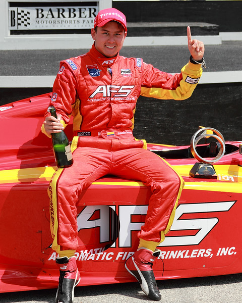 Firestone Indy Lights Sebastain Saavedra 2012 Barber Winner