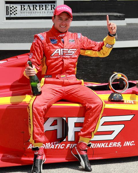 Firestone Indy Lights Sebastain Saavedra 2012 Barber Winner