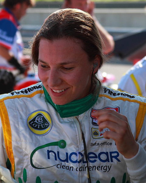 IndyCar Driver Simona de Silvestro after practice for Indy Grand Prix of Alabama