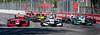 #67 Dalton Kellett abd Indy Lights field in Turn 1