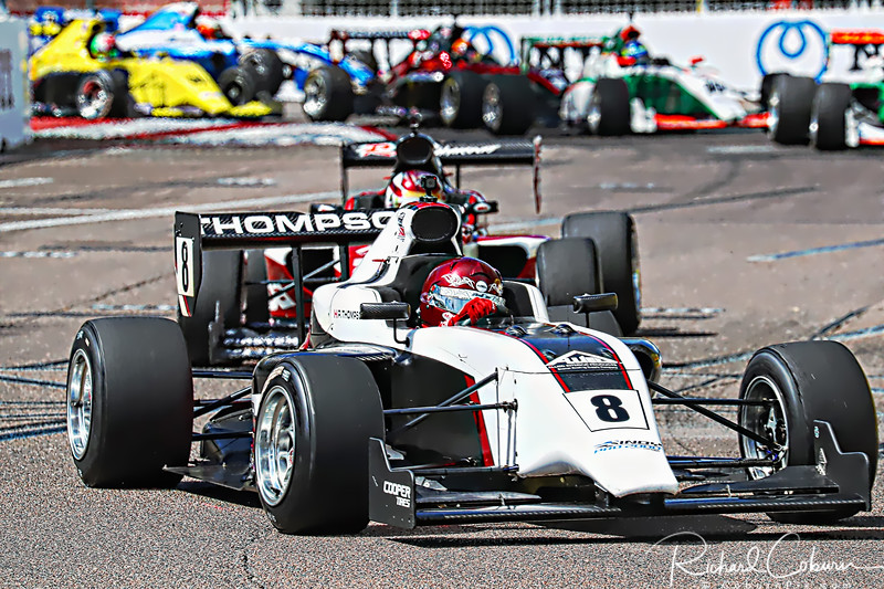 8 Parker Thompson double header double winner Indy Pro 2000 Series