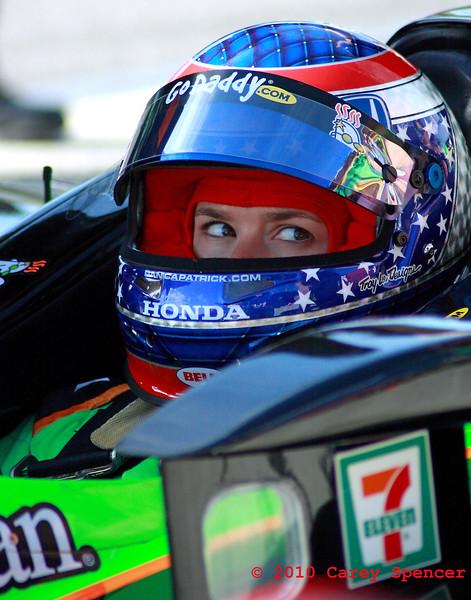 Danica Patrick Sits on Pit Road at Start of Izod IndyCar Race