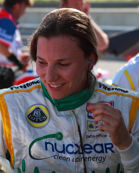 IndyCar Driver Simona de Silvestro after practice for Indy Grand Prix of Alabama
