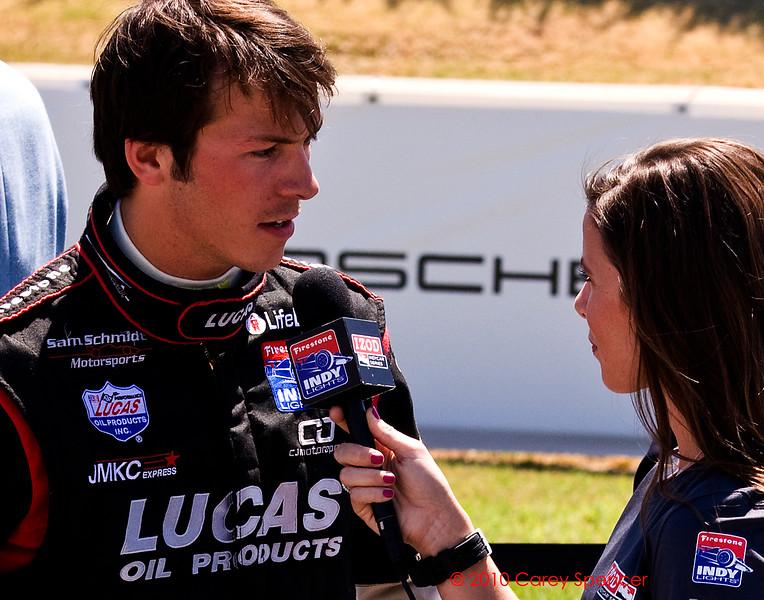 J.K. Vernay interview before Firestone Indy Light race Barber Motorsports Park Alabama