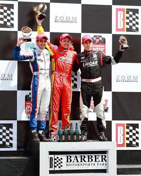 Barber Indy Lights Podium Honda Indy Grand Prix of Alabama