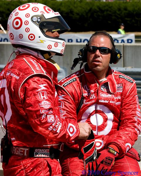 Chip Ganassi Target IndyCar crew.