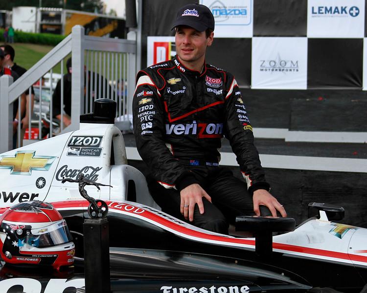 IndyCar Driver Will Power Cintas Hat Victory Lane 2012 Barber Winner