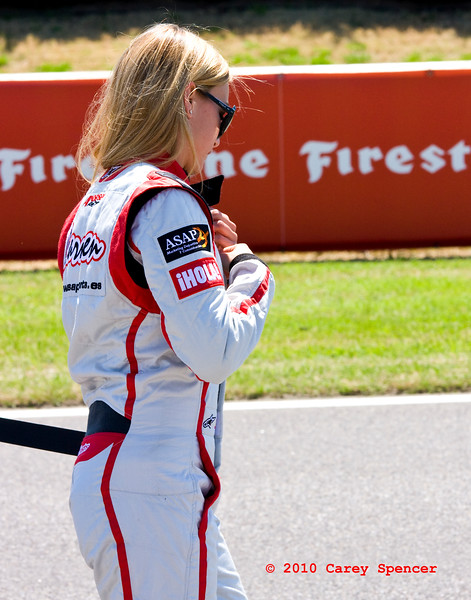 Rookie Driver Carmen Jorda during Driver Intro before 2010 Indy Lights Race at Barber