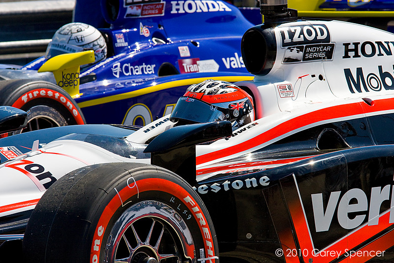 Will Power and Mike Conway line up number 1 and number 2 for start of the Indy Grand Prix of Alabama