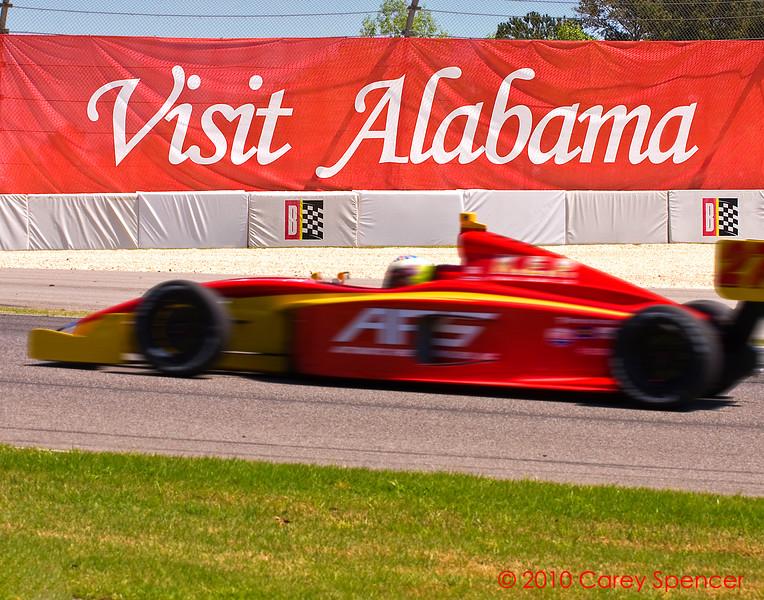 Visit Alabama.  Indy car racing Barber Motorsports Park.
