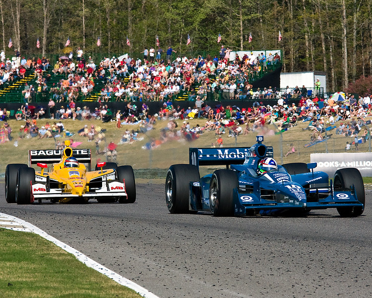 Indy Driver Dario Franchitti in front of Bertrand Baguette