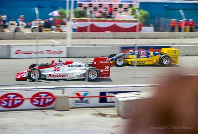 No.36 Randy Lewis. No.18 Michael Andretti.