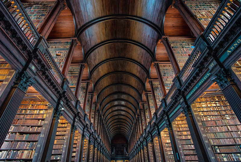 Long Hall of the Old Library, Trinity College, Dublin (July 2017)