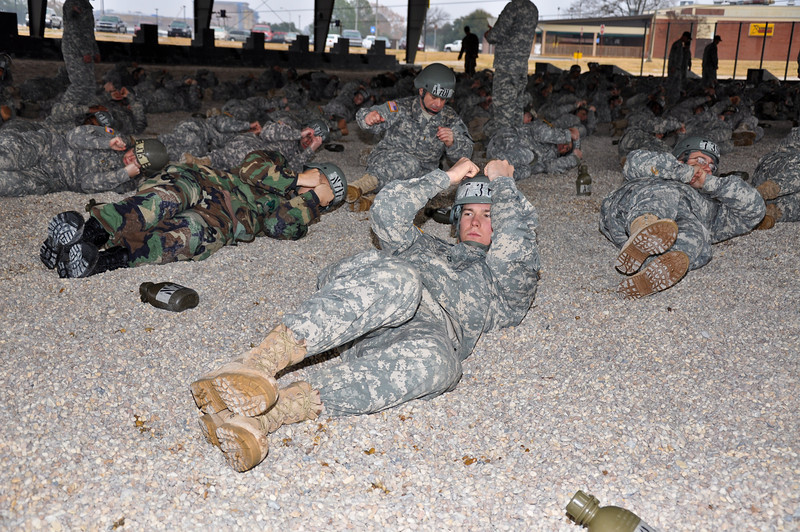 5 JAN 2011 - B Co 1/507th Airborne training at Mann Field, MCoE, Fort Benning, GA.  Photo by Sue Ulibarri.