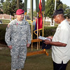 (Fort Benning, Ga.) 1/507th Parachute Infantry Regiment Change of Command ceremony as LTC Bergmann, relinquishes command to LTC Brown at Eubanks Field on July 02, 2014.<br />  (Photos by Markeith Horace/ MCoE PAO Photographer)