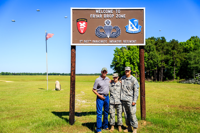 LTC Brown and Cadet Brown Father-Daughter Jump