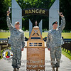 The National Ranger Memorial at Fort Benning is the backdrop for the 2011 Best Ranger Competition Awards Ceremony.(Photo by John D. Helms/MCoE Photographer)