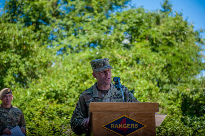 Sergeant Major of the Army Daniel A. Dailey at Ranger Class 7-17 Graduation
