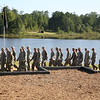 """(FORT BENNING, Ga) Maneuver Center of Excellence leaders, Family and friends<br /> of Ranger Class 08-15 gather to watch the Rangers in Action demonstration<br /> and """"pin"""" their loved ones with the coveted Ranger Tab at Victory Pond.<br /> August 21, 2015. (Photos by Markeith Horace/MCoE PAO Photographer)"""