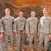 (FORT BENNING, Ga.) – (From left to right): 1st Lt. John Steger, 1st Lt. Shawn Looney, Staff Sgt. Joshua Howell, Staff Sgt. Christopher Holley, Capt. Grant Hewins and 1st Lt. Colin Grant are the competitors from 10th Mountain Division for the annual Best Ranger Competition at Fort Benning, Ga., April 11-14. (U.S. Army photo by James Dillard/MCoE Public Affairs)