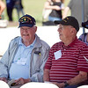 "(FORT BENNING, Ga) Veterans attend a dedication ceremony for the 87th Infantry Division ""Golden Acorn"" Monument, October 03, 2013 at the National Infantry Museum Memorial Walk of Honor. The 87th Infantry Division was activated on December 15, 1942 as one of the last of 29 infantry divisions that the War Department activated in 1942. They joined the Battle of the Bulge after a costly 100-mile move by open truck from the Saar region to Belgium on a cold December night. The cost in human lives was great during the Division's five months of combat with 1,154 killed in action, 4, 342 wounded in action and 141 dead from wounds sustained during battle. (Photo by Ashley Cross/MCoE PAO Photographer)"