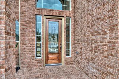 5. Leaded Glass Front Door