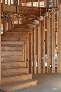 Entry Curved Stair way